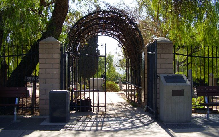 yorba cemetery gate 2007