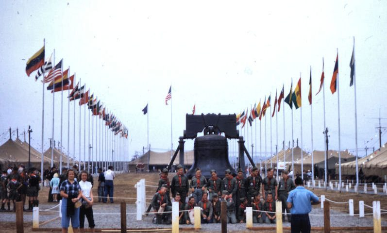 avenue of flags national jamboree 1953